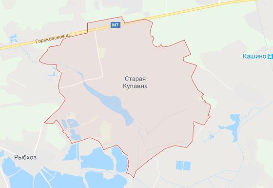 Расположение города Старая Купавна